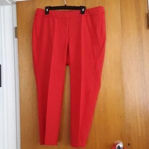 Lane Bryant red dress pants